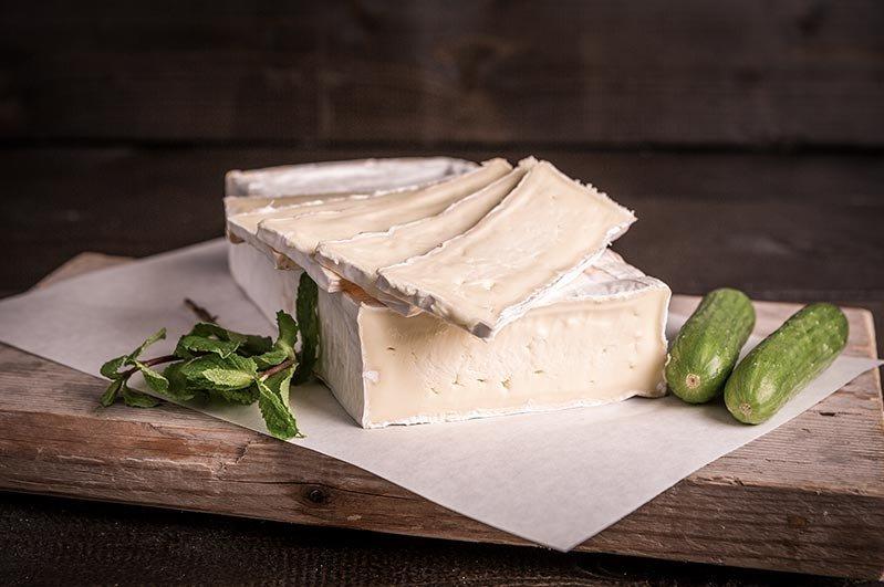 Brie gesneden