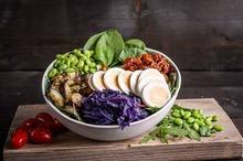 Rode kool-spinazie salade kom (tot 10 personen) NIEUW
