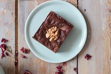 Vegan Walnoot Brownie 1pers. Gluten-, lactose vrij (Rose&Vanilla)