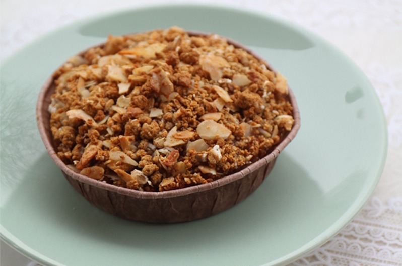 Vegan Appeltaartje 1pers.Gluten-, lactose vrij (Rose&Vanilla)