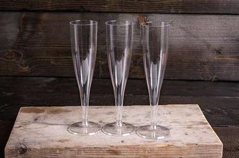 Wegwerp champagne-flutes p.10 stuks