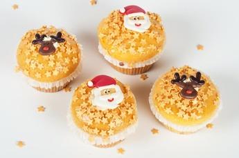 Kerst muffin vanille