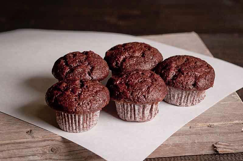 Mini muffin chocolade per 5 st.