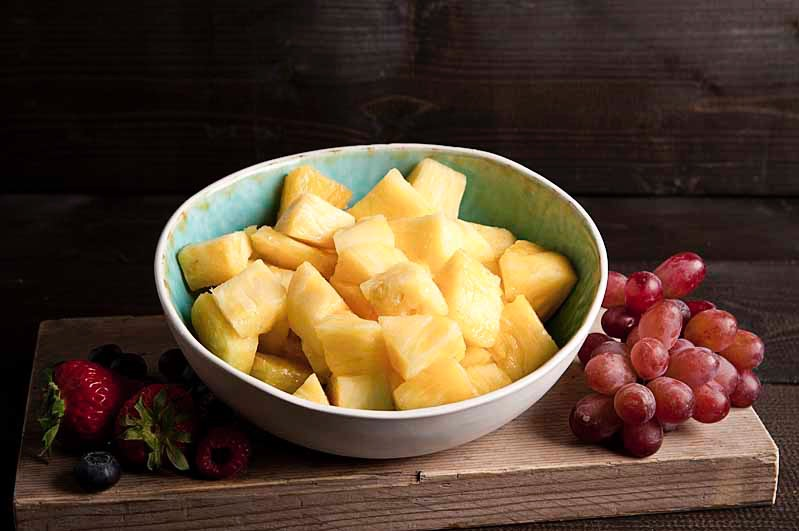 Vers gesneden ananas 750cc