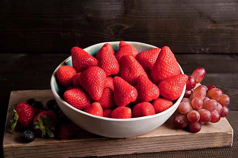 Vers gesneden aardbeien (750cc)