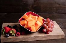 Vers gesneden cantaloupe meloen 375cc