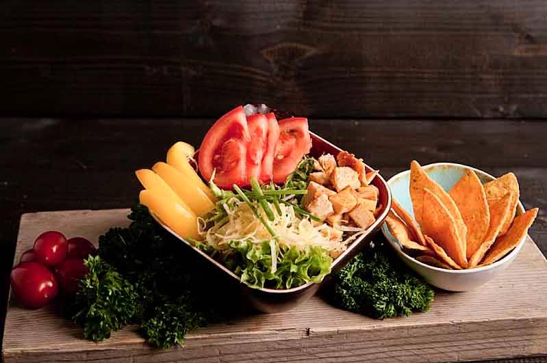 Nacho chicken salade (bijgerecht)