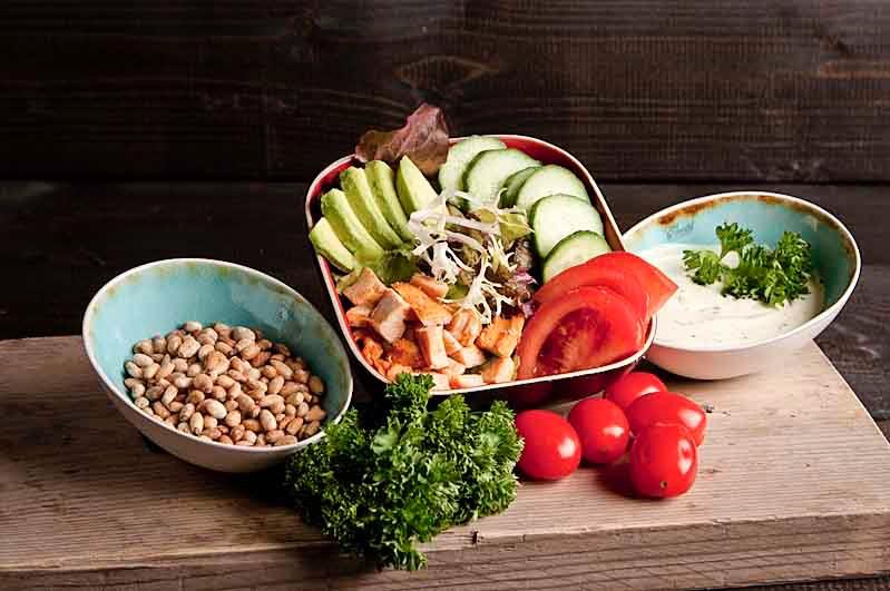Gerookte kip salade (bijgerecht)