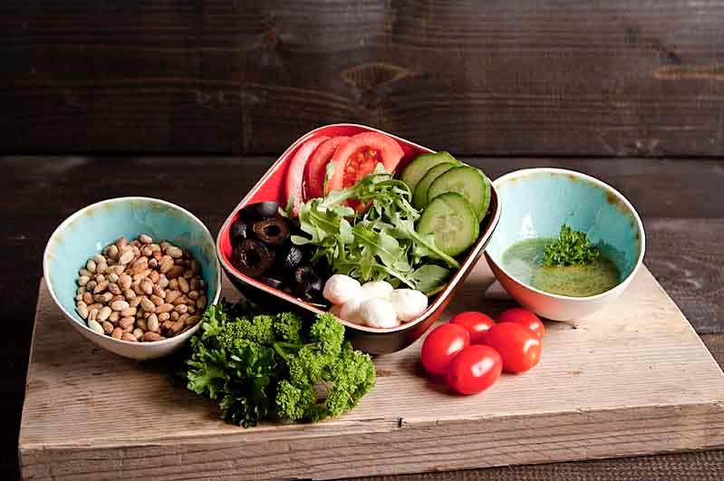 Caprese salade (klein 375cc)