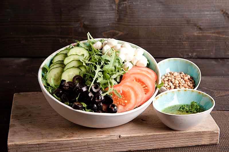 Caprese salade (lunchgerecht)