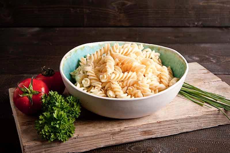 Pasta (vlinders of wokkels) gekookt