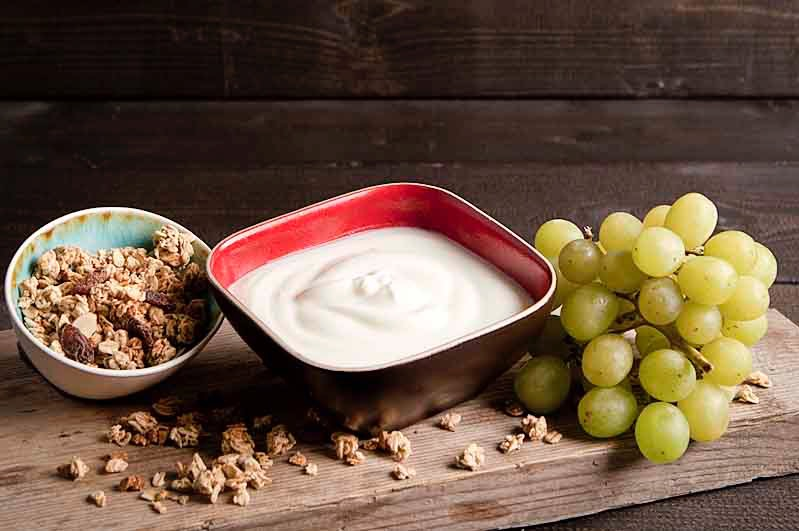 Bio-yoghurt met cruesli