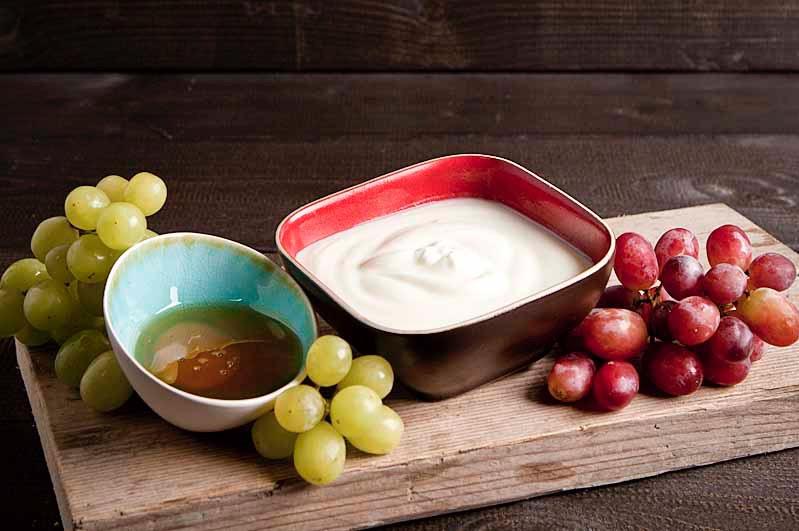 Bio-yoghurt met honing