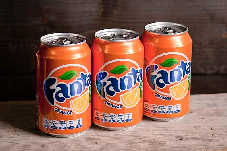Fanta orange blikje 330 cc