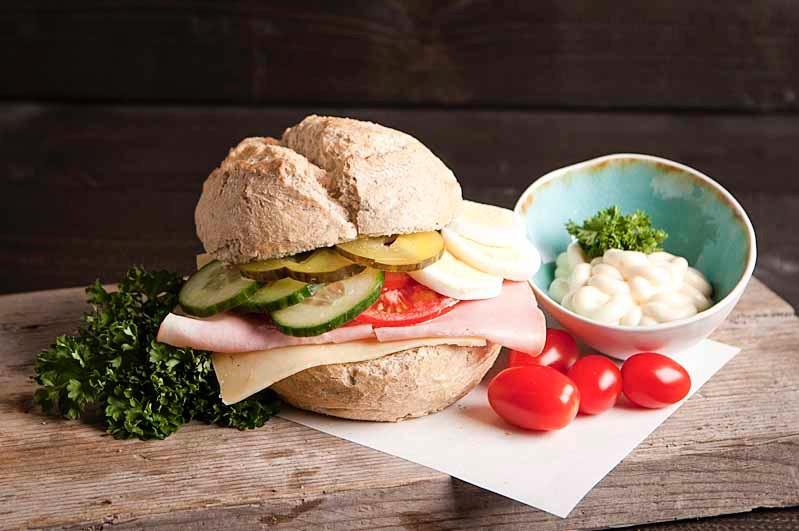 Broodje Ham kaas gezond