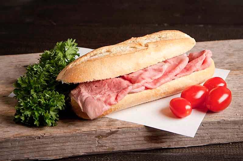 Lactosevrij broodje rosbief