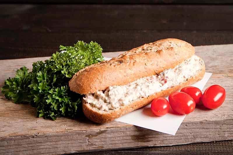 Lactosevrij broodje tonijn salade