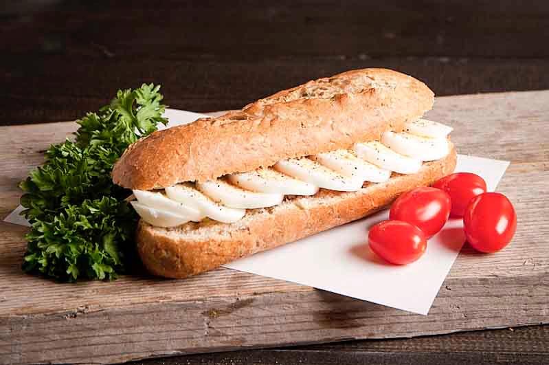 Lactosevrij broodje gekookt ei